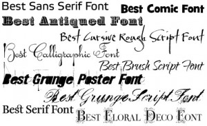 una serie di risorse sui font