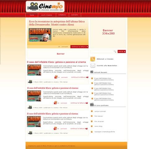 , Blog Design: Finalmente terminato questo nuovo blog dedicato al Cinema