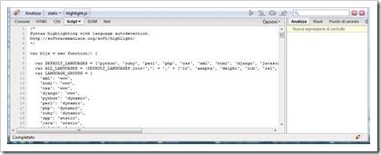 La scheda Java Script