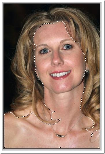 selezione della pelle con il lazo magnetico di Photoshop