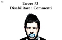 disabilitare commenti blog