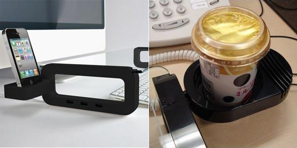 supporto scrivania e porta tazza