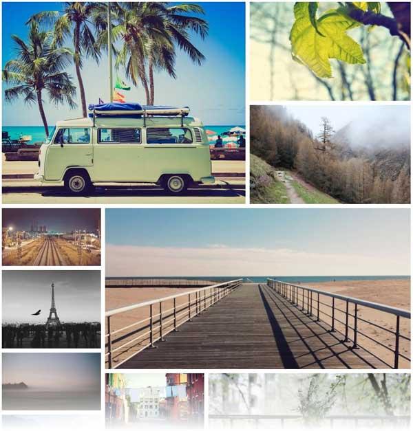 esempio layout di pagina con questo plugin wordpress per la gestione delle immagini