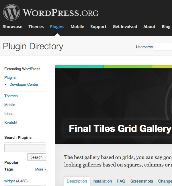 il plugin scaricabile dalla directory di wordpress