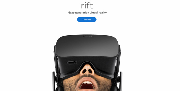 Oculus Rift landing page Immagine in evidenza