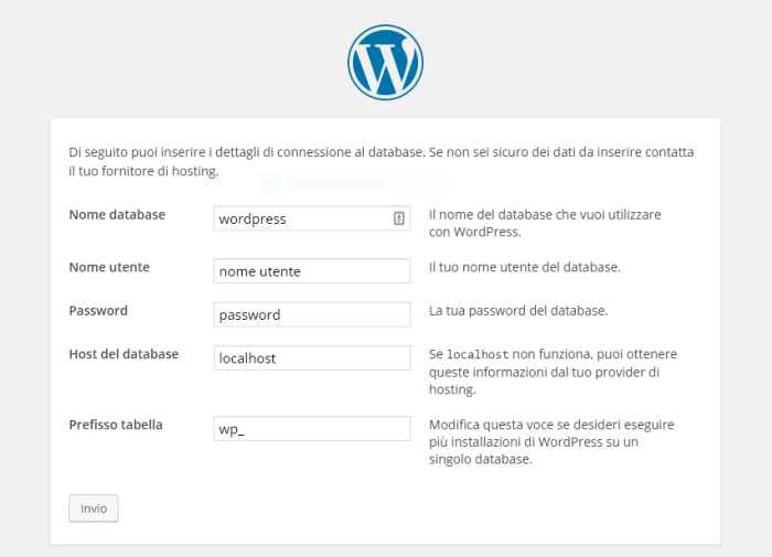 fare un sito in wordpress