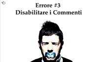 disabilitare commenti blog